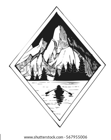 lake and mountains tattoo