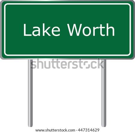 lake worth   florida  road sign