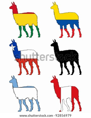 Lama flags