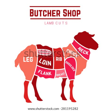 lamb or mutton cuts diagram