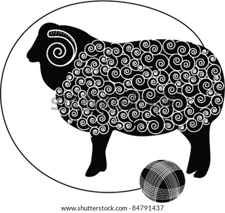 Sheep Vector Silhouette Vector Silhouette