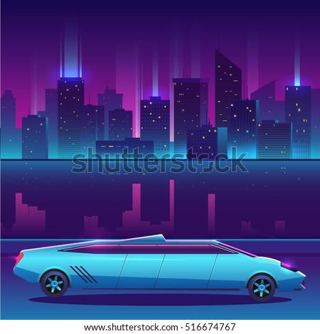 lamborghini limousine vector in