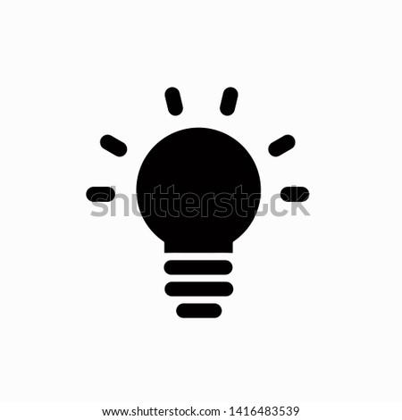 Lamp bulb icon, vector illustration. Flat design style. vector lamp bulb icon illustration isolated on white background, lamp bulb icon Eps10. lamp bulb icons graphic design vector symbols.