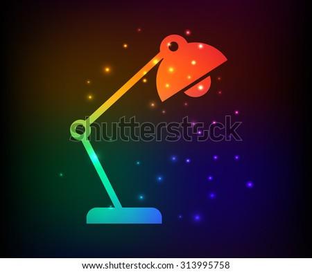 lamp design rainbow concept