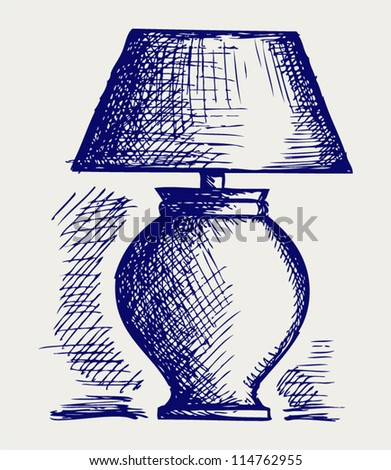 Lamp for the bedroom. Doodle style