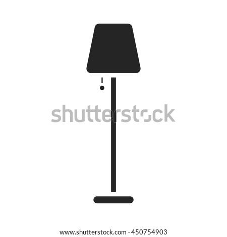 Lamp icon black simple. One icon of a large interior collection.