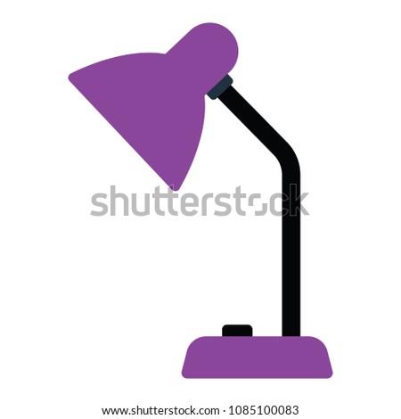 Lamp icon. Flat color design. Vector illustration.