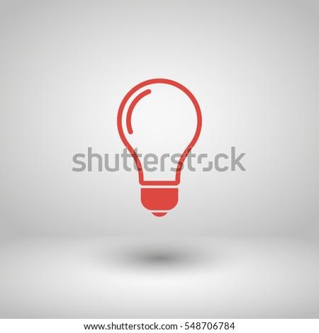 lamp, idea vector icon