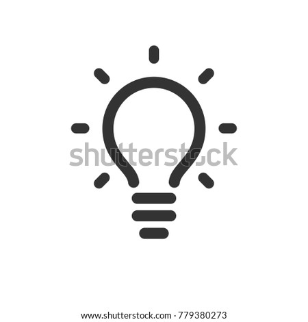 Lamp, idea vector icon