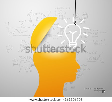 lamp in sIlhouette of a head