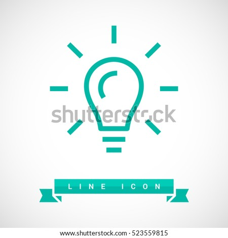 Stock Photo lamp isolated minimal icon. lamp graph line vector icon for websites and mobile minimalistic flat design.
