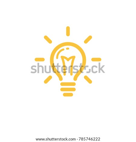 Lamp lightbulb icon, idea symbol