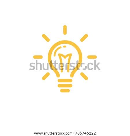 Lamp lightbulb icon, idea symbol