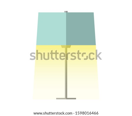 lamp on switched on lamp vector flat design