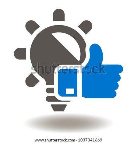lamp thumb up icon vector