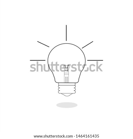 lamp vector icon. lamp icon. lamp idea. orange, black