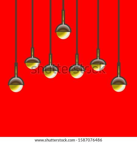 lamps,decoration lamps,swinging lamps in vector design