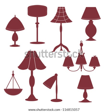 Lams silhouette with patterns set