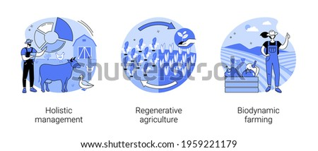 Land management abstract concept vector illustrations. Stock foto ©