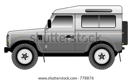 stock vector : Land Rover Defender 90 CSW (Tinted)