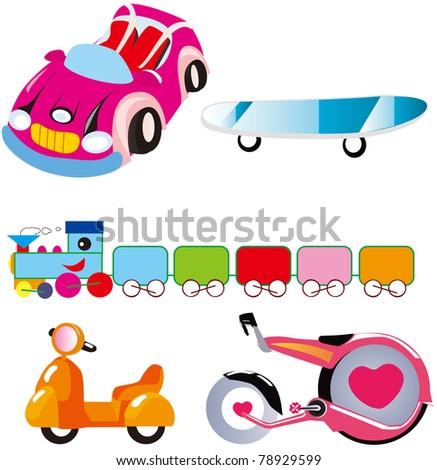 land transport set