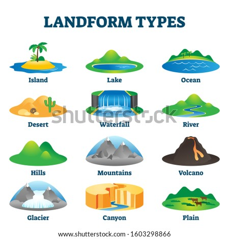 landform types vector