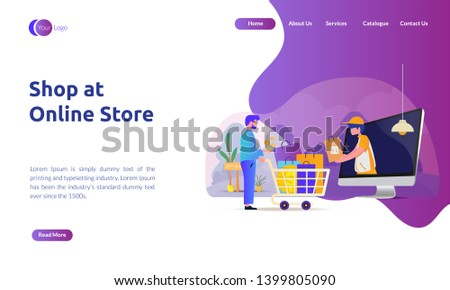 Landing page for e-commerce - Shop at online store