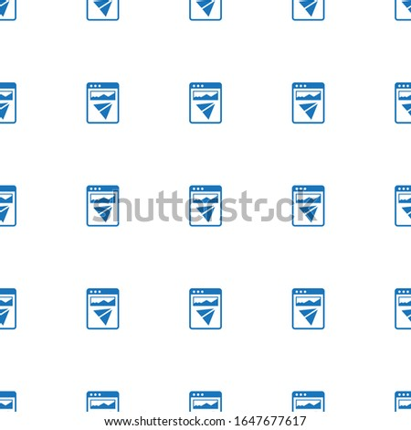 Landing page icon pattern seamless isolated on white background. Editable filled Landing page icon. Landing page icon pattern for web and mobile.
