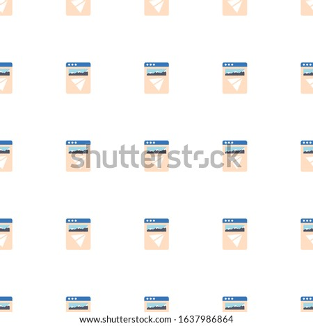 Landing page icon pattern seamless isolated on white background. Editable flat Landing page icon. Landing page icon pattern for web and mobile.