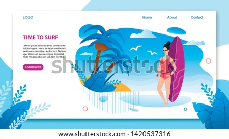 landing page in flat tropical