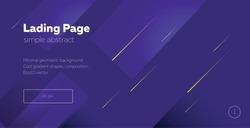 Landing page.  minimal geometric background