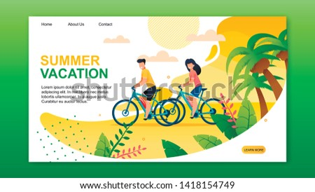 landing page presenting summer