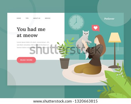 landing page template of pet