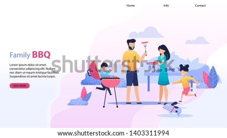 landing page with family bbq