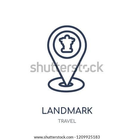 Landmark icon. Landmark linear symbol design from Travel collection. Simple outline element vector illustration on white background.