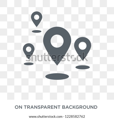 Landmark icon. Trendy flat vector Landmark icon on transparent background from Architecture and Travel collection.