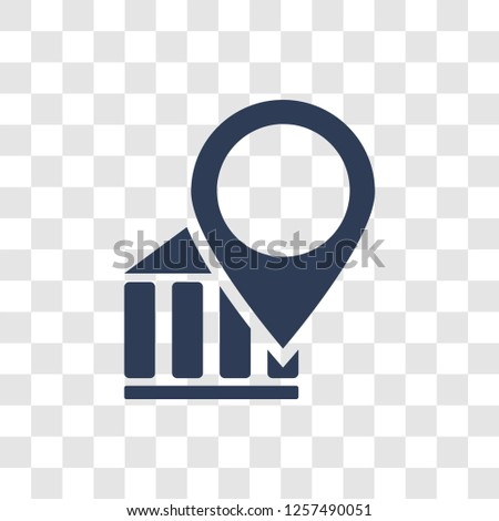 Landmark icon. Trendy Landmark logo concept on transparent background from Architecture and Travel collection