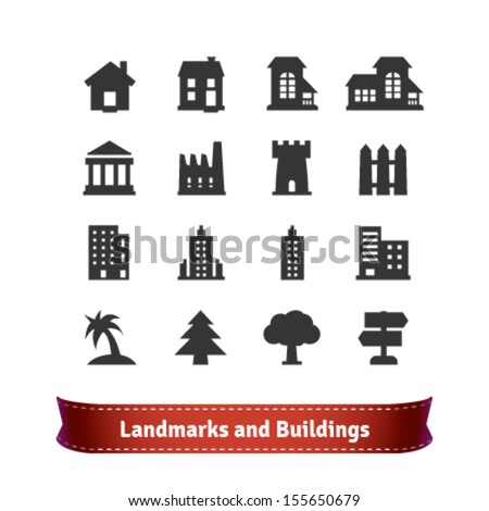 Landmarks and Buildings Icon Set