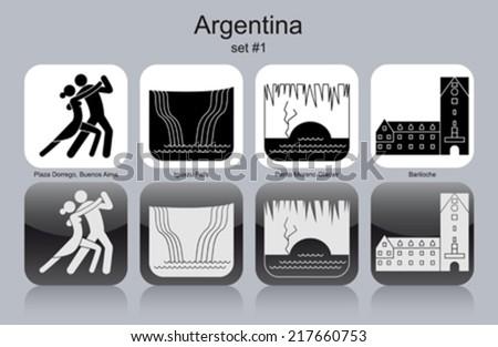 landmarks of argentina set of