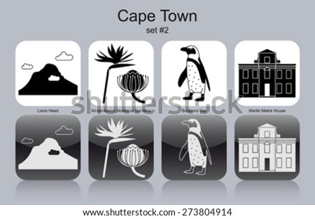 landmarks of cape town set of