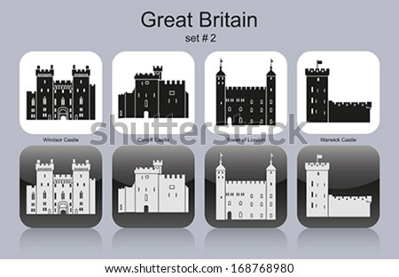 landmarks of great britain set