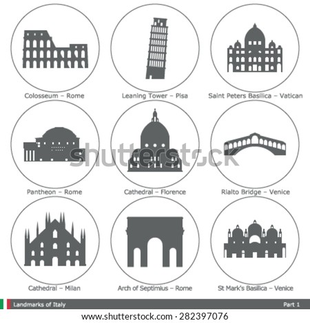 landmarks of italy  part 1