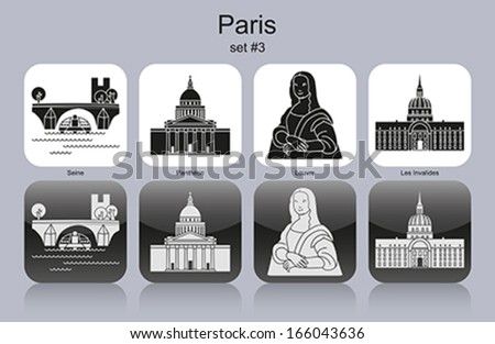 landmarks of paris set of