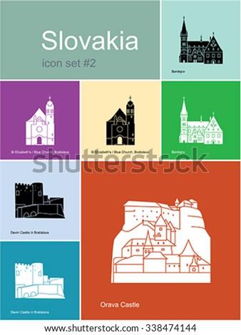 landmarks of slovakia set of