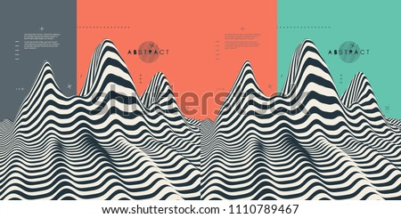 stock-vector-landscape-background-terrain-pattern-with-optical-illusion-d-vector-illustration