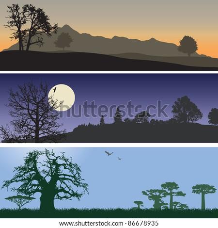 Landscape banners. Vector illustration