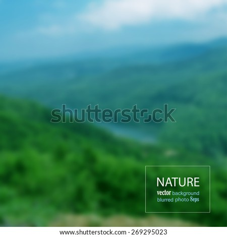 landscape blurred photo