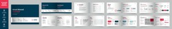 Landscape Brand Manual Template, Simple style and modern layout Brand Style, Brand Identity, Brand Guideline, Guide Book