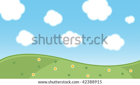 landscape cartoon background