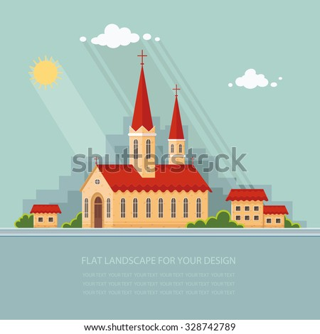 landscape church on the